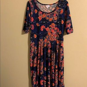 Lularoe blue print dress size 2XL
